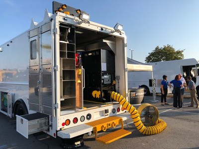 Utilimaster showcased two highly-customized Utilimaster utility service walk-in van designs at ICUEE.